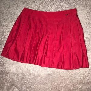 Red Athletic Nike Tennis Skirt